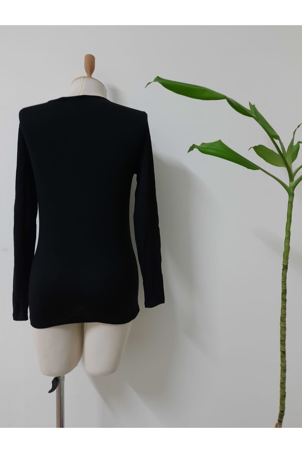 Önü Çapraz Detay Viscon Bluz - siyah