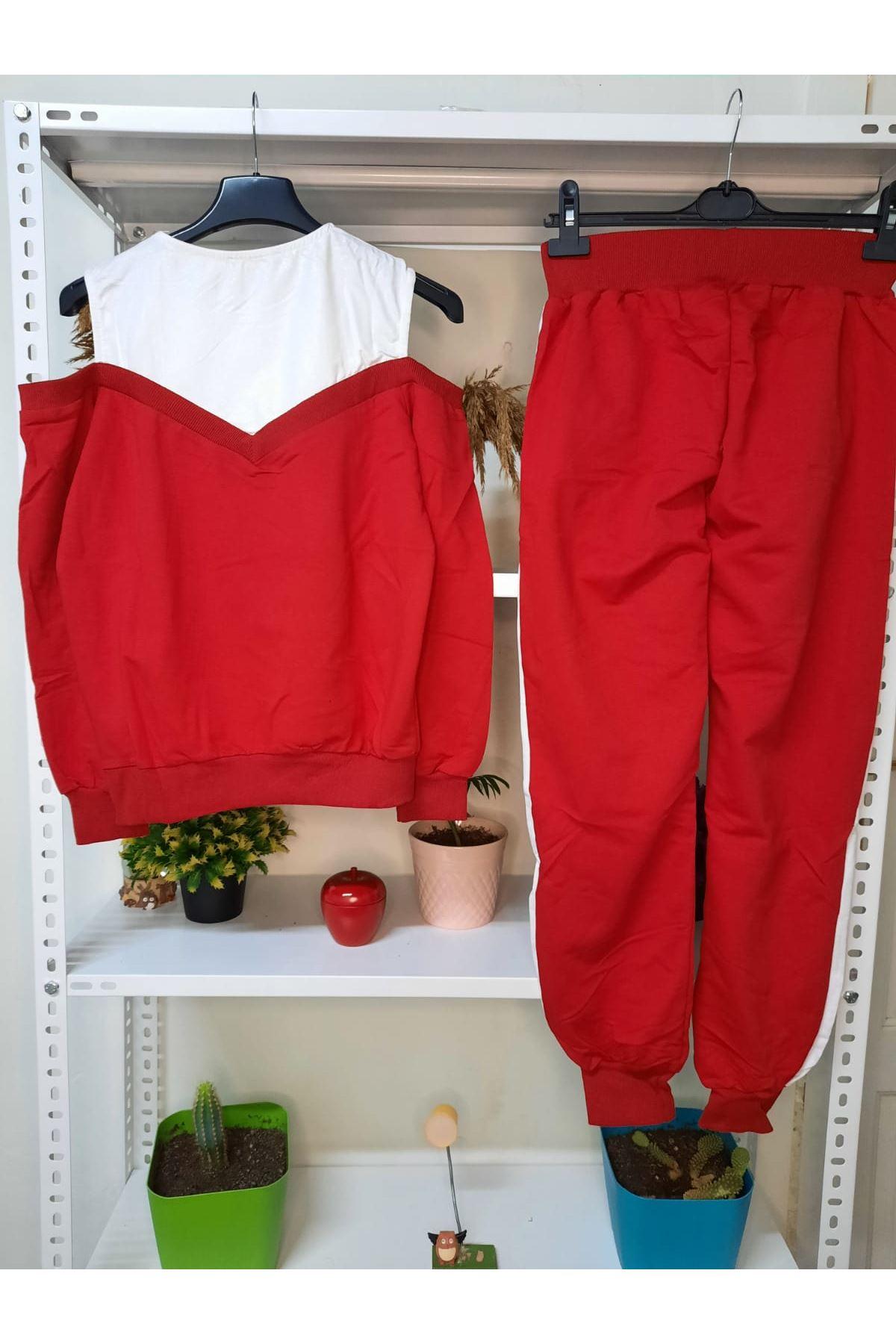 Yeni Sezon Şeritli Takım - kırmızı