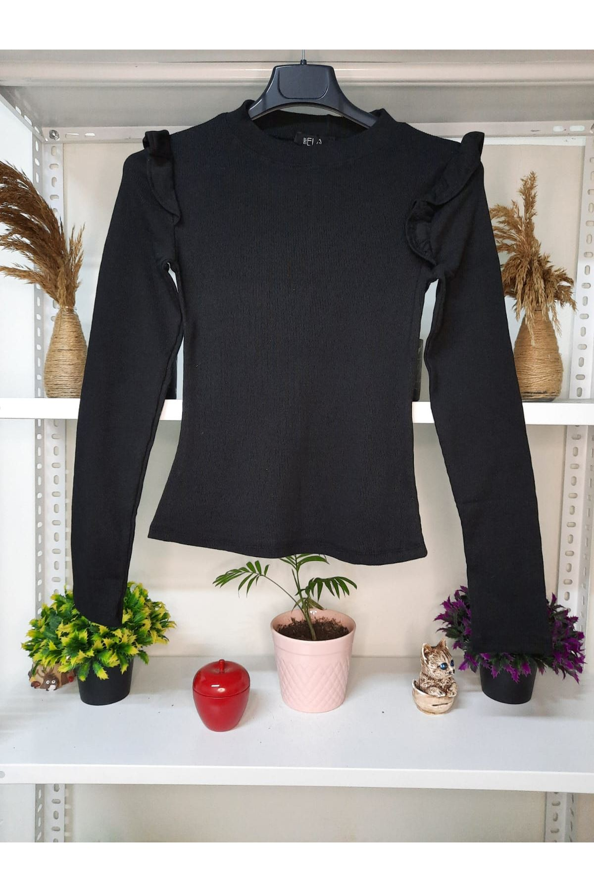 Prenses Model Bluz - Siyah
