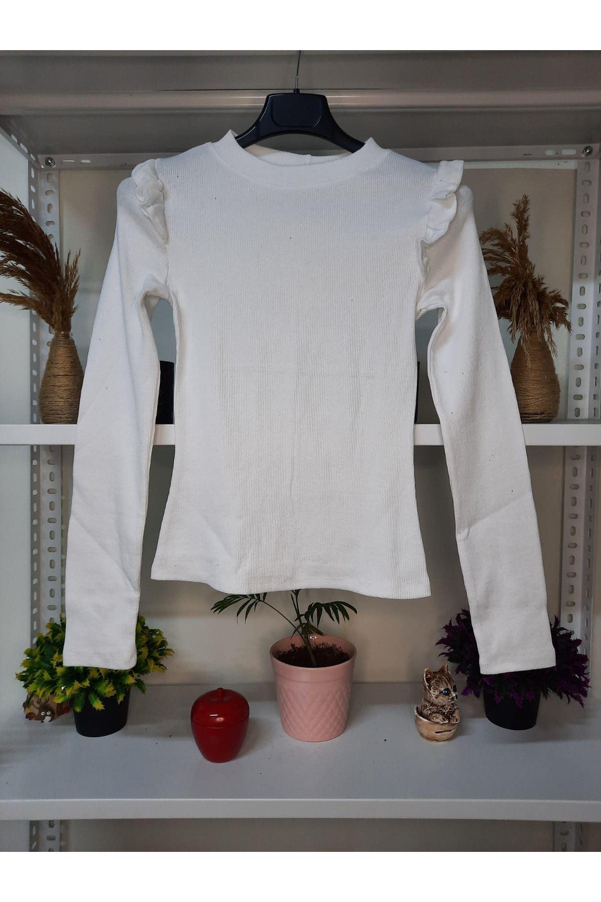 Prenses Model Bluz - Beyaz