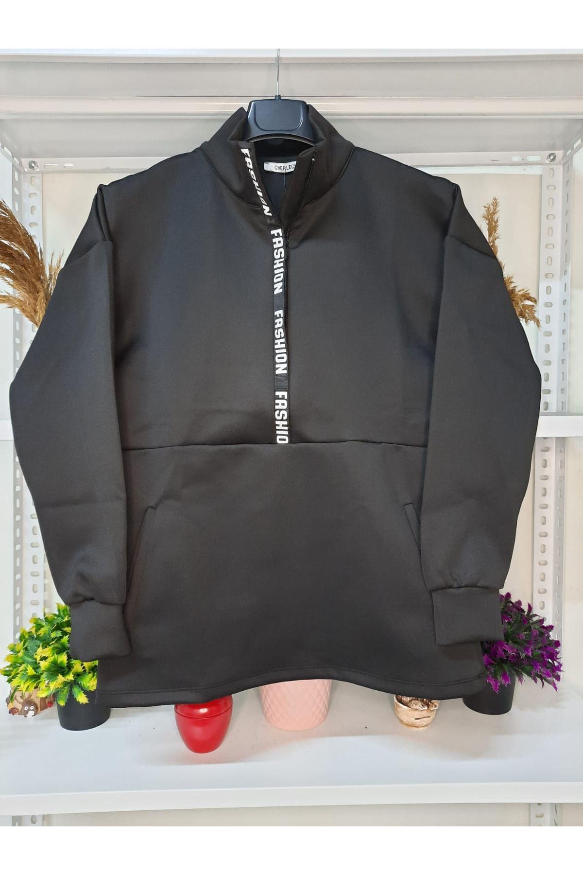 Fashion Dalgıç Sweat - SİYAH
