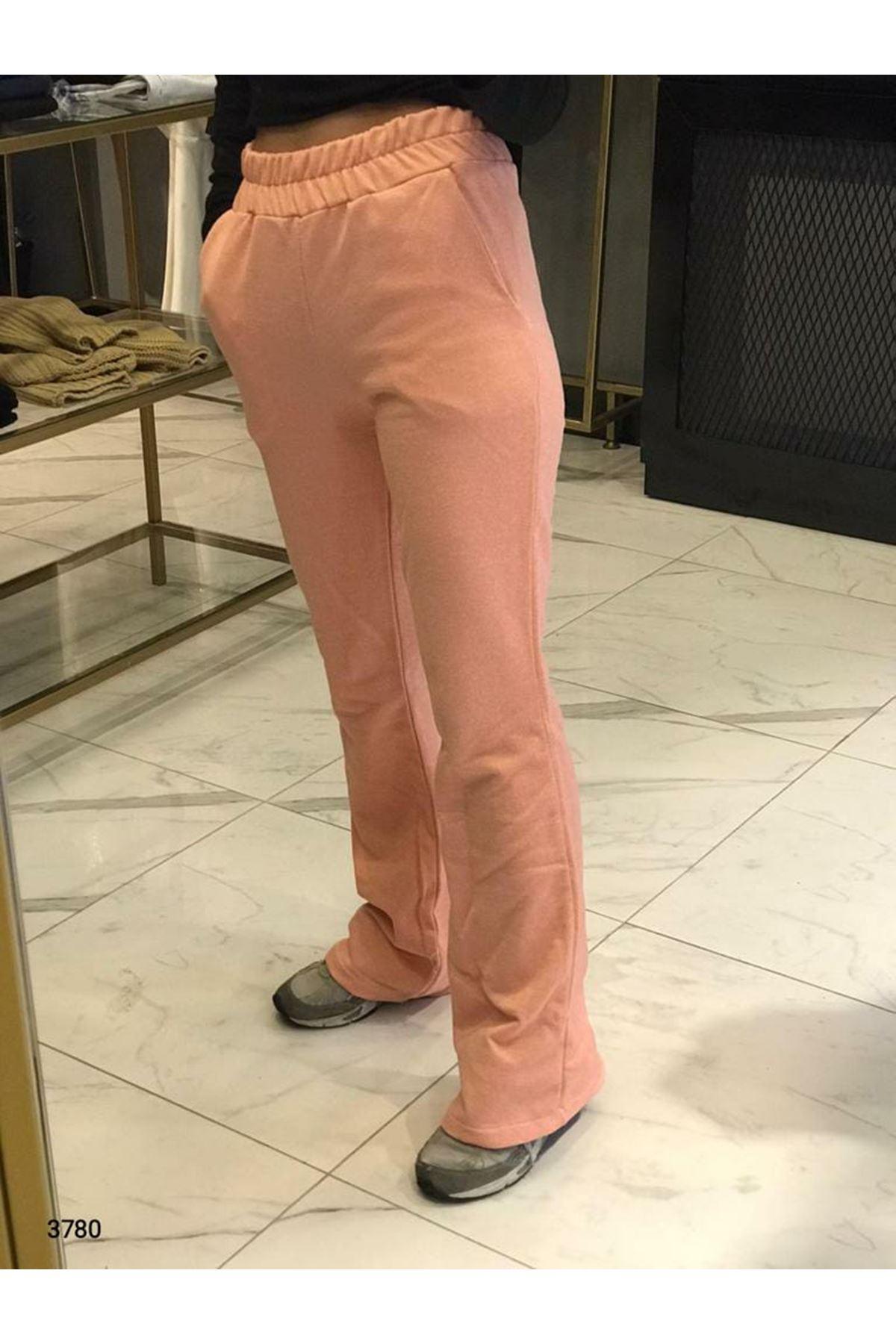Bel Lastikli Bol Paça Pantolon - Yavru Ağzı
