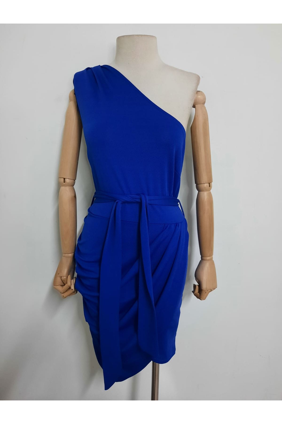 Tek Omuz Kuşaklı Elbise  - sax