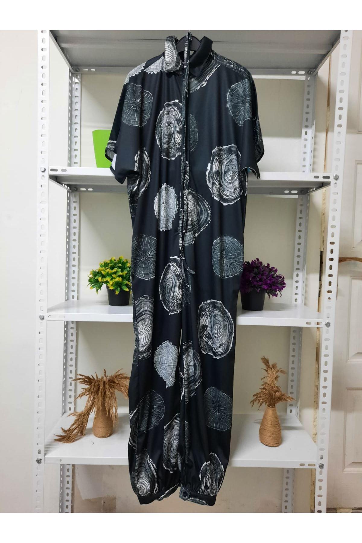 Compact Desen Tulum - siyah