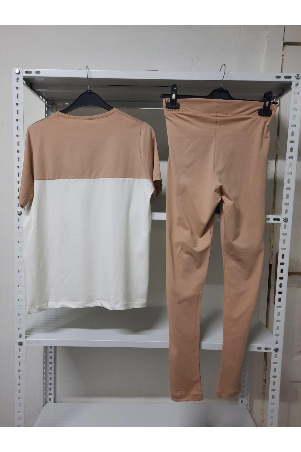 Penye Kumaş İkili Takım - beyaz