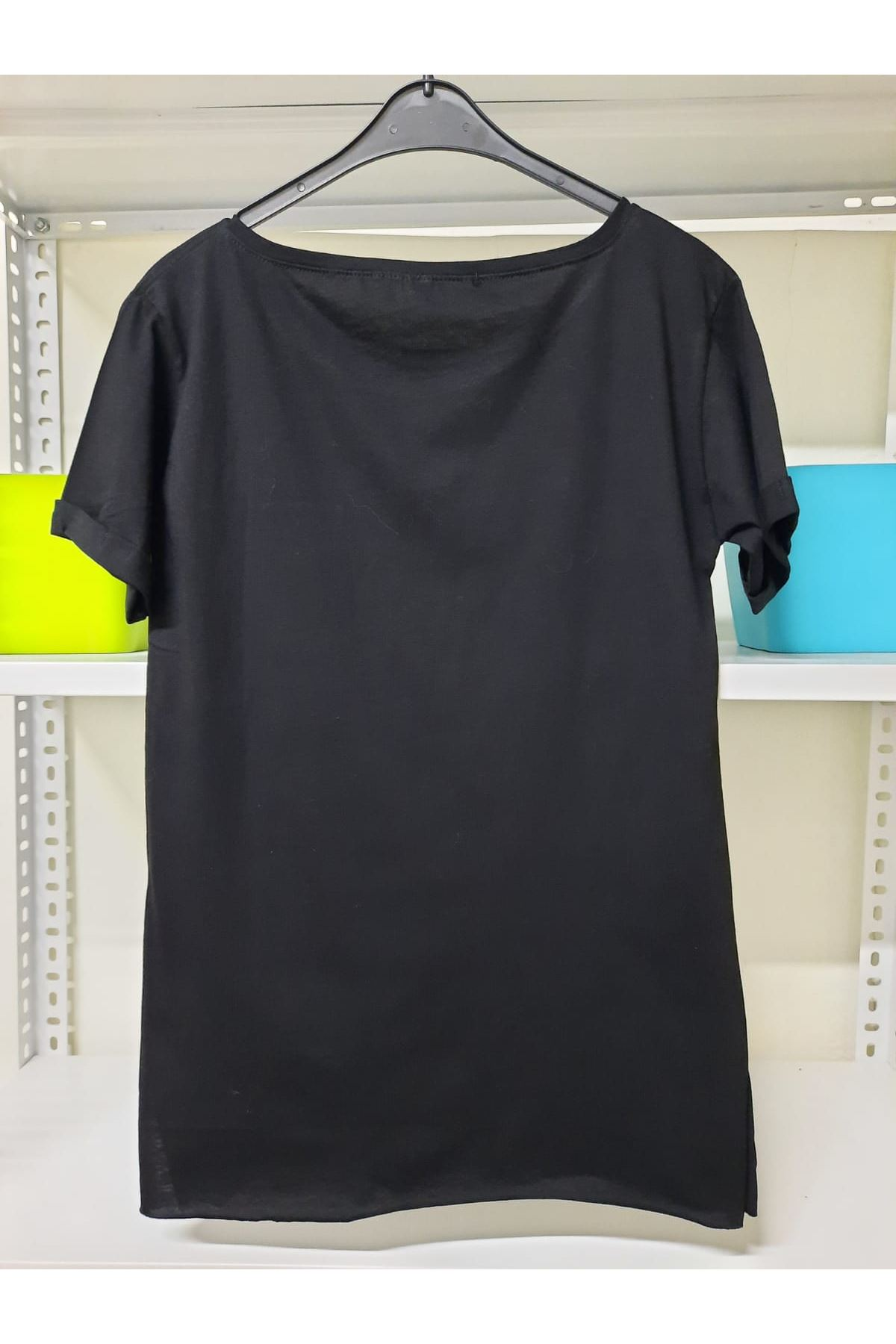 LV Cep Detaylı Tshirt - Siyah