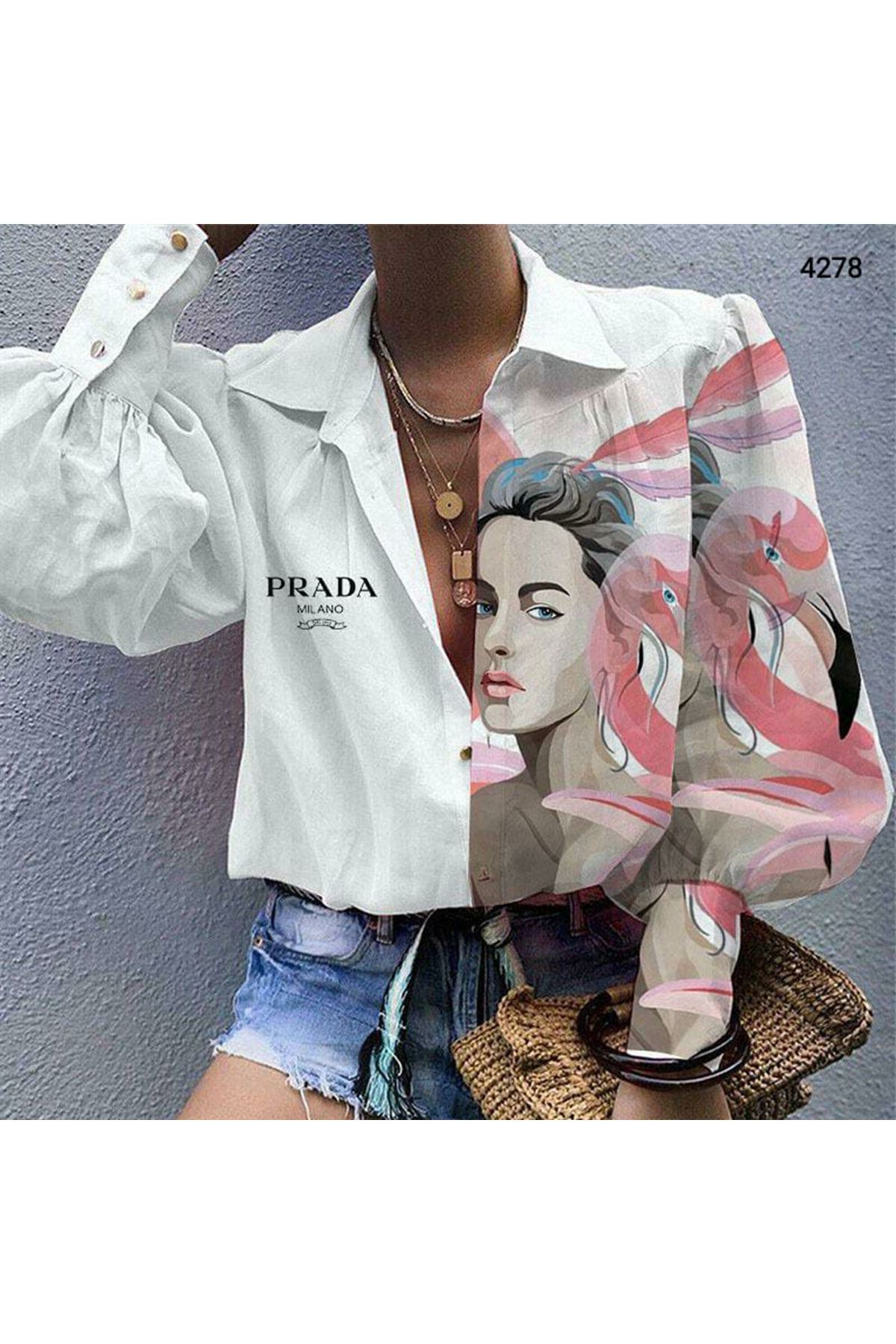 PRD Model Gömlek - Beyaz