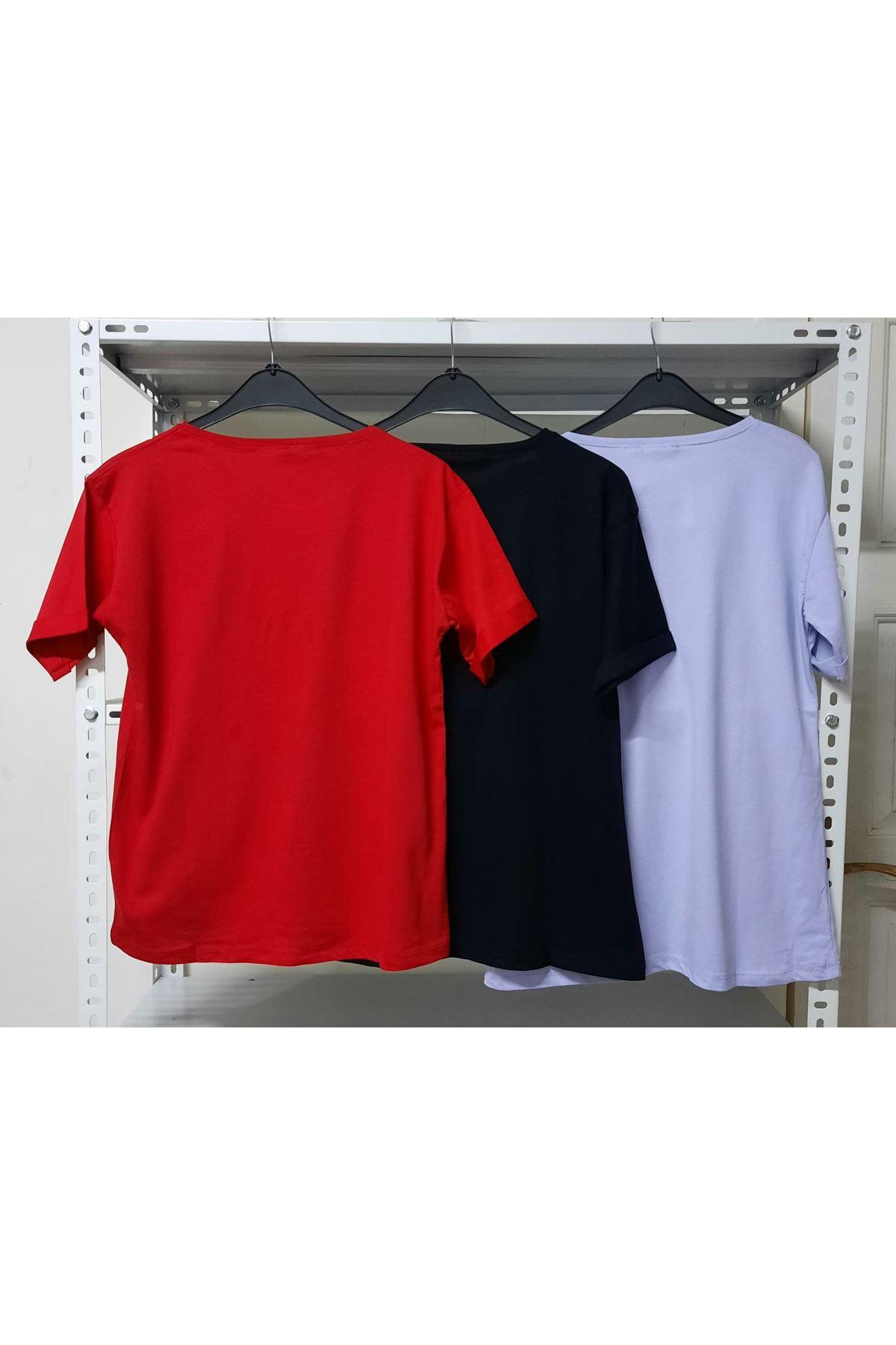 Perfect Yazı Baskılı T-shirt - KIRMIZI