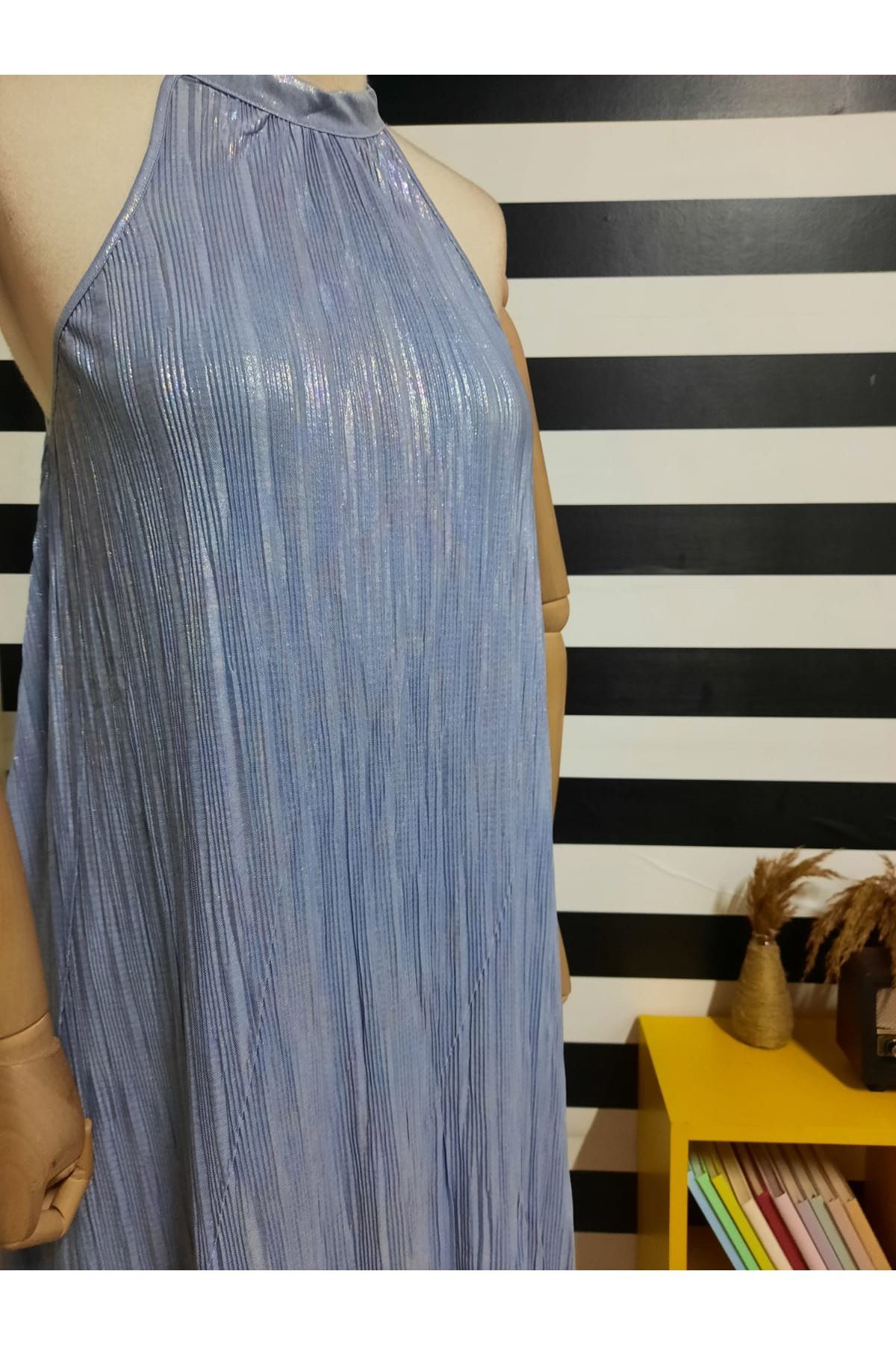 Piliseli Elbise - GRİ