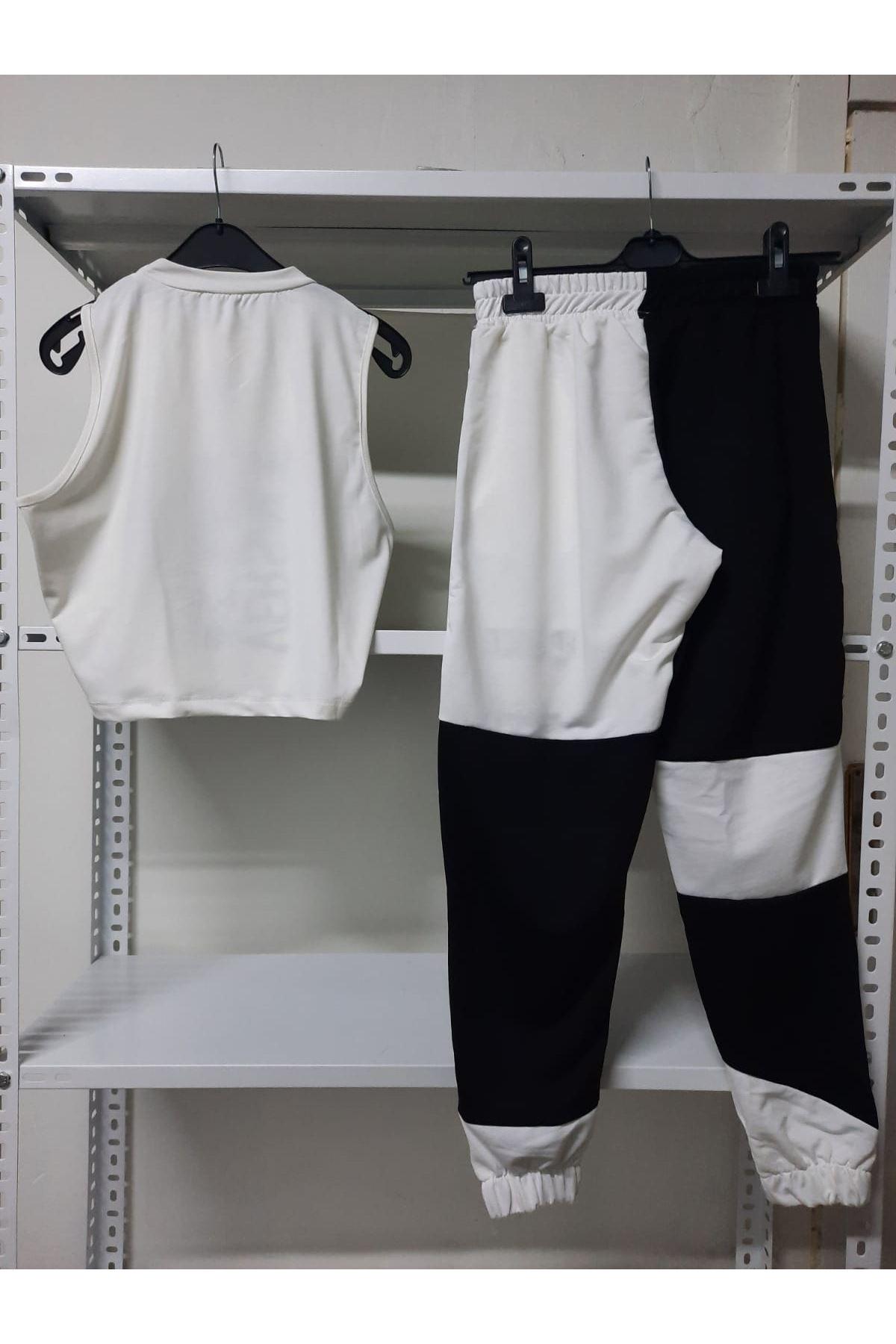 VS Desen İkili takım - Beyaz