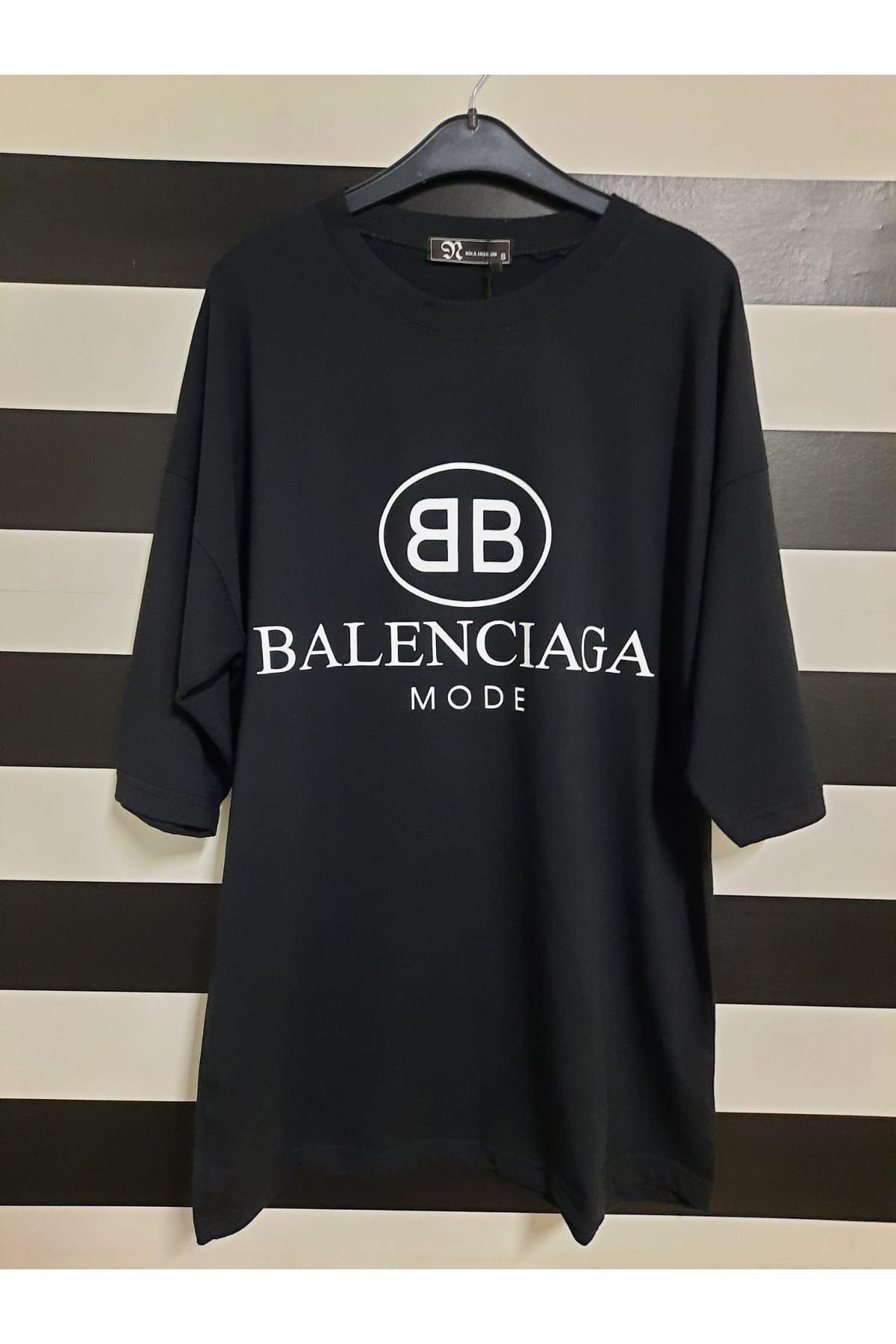 BB Model Baskılı Tshirt - SİYAH