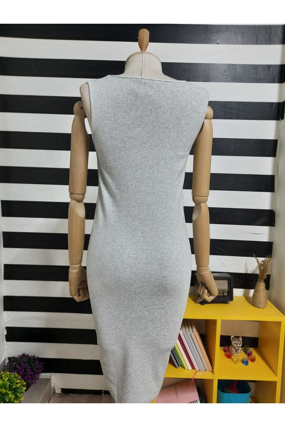 LV Model Kaşkorse Elbise - GRİ