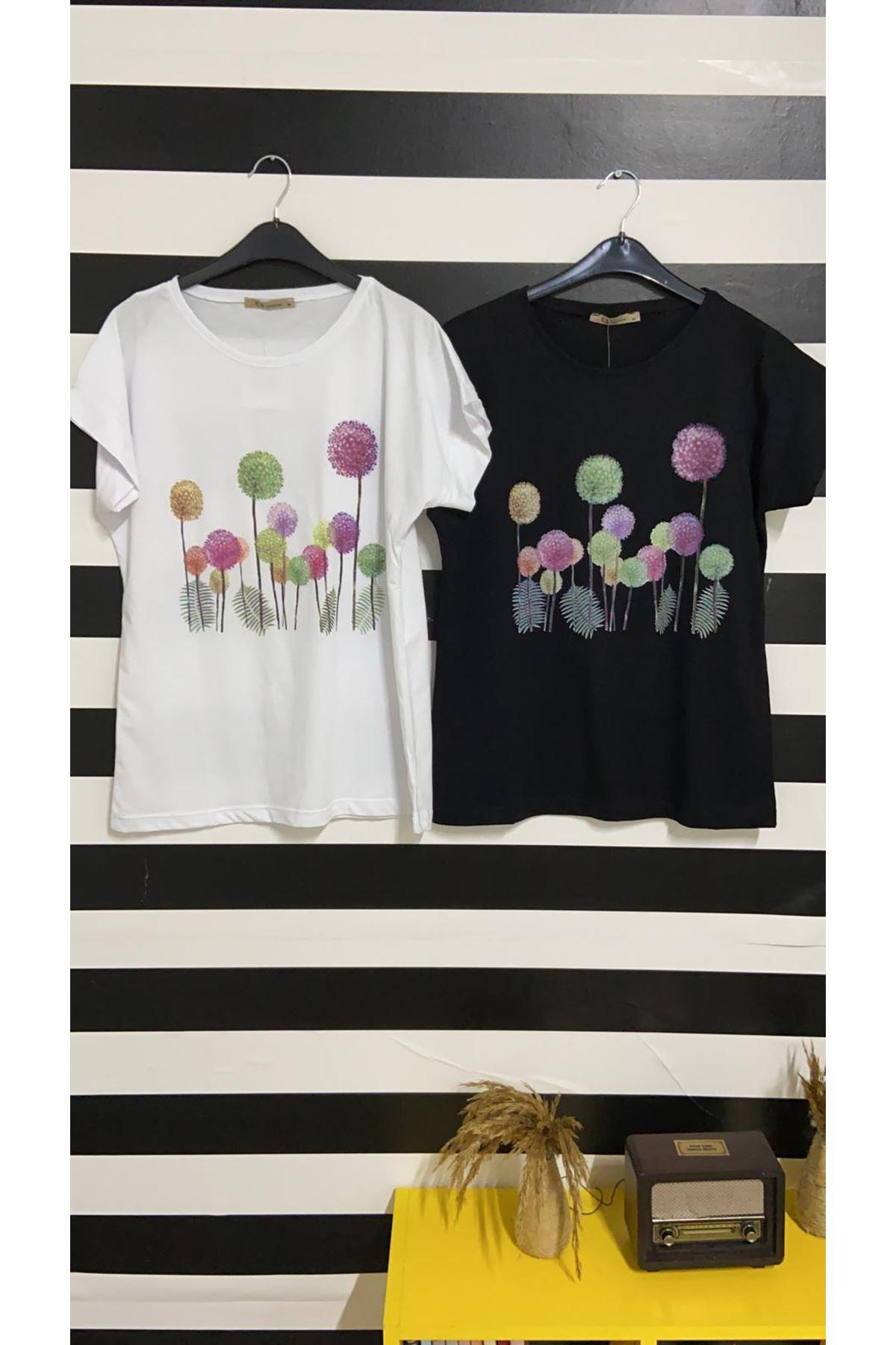 Baskılı Tshirt - BEYAZ
