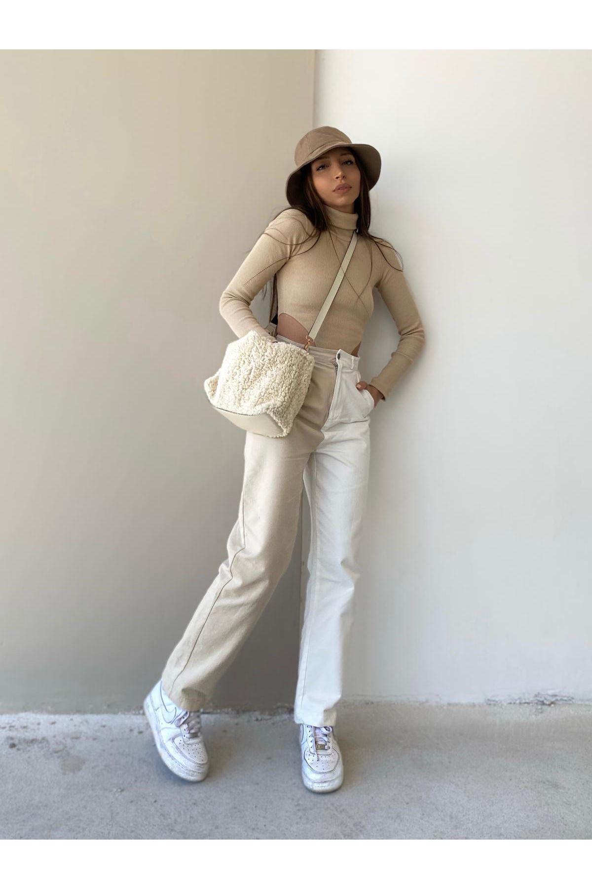 Çift Renk Gabardin Pantolon - MULTİ