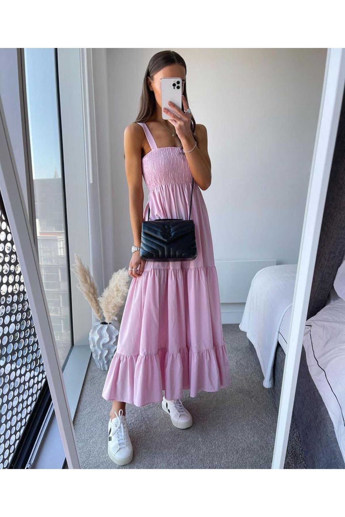 ZR Model Gipeli Elbise - PUDRA