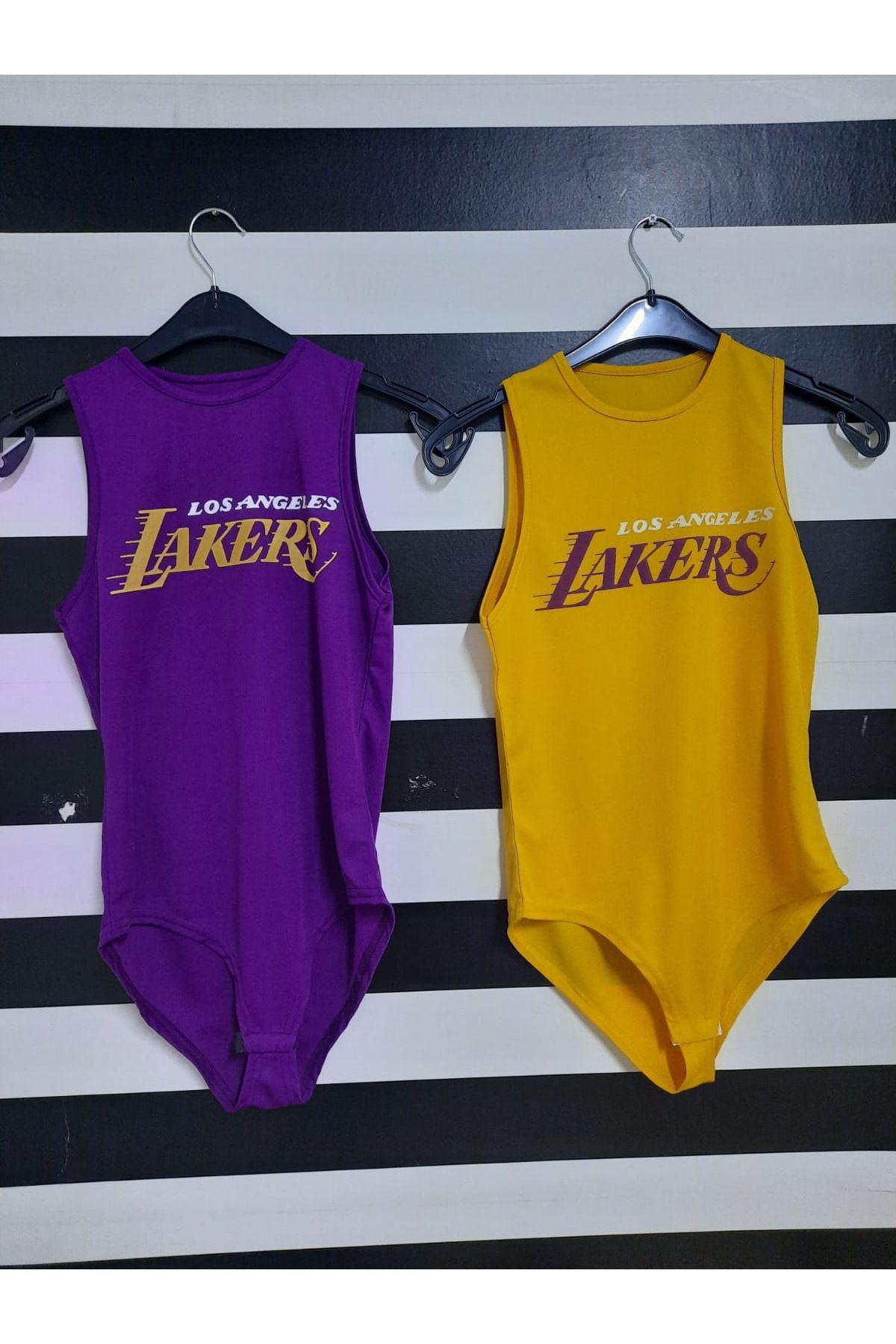 Lakers Baskılı Bodysuit - HARDAL