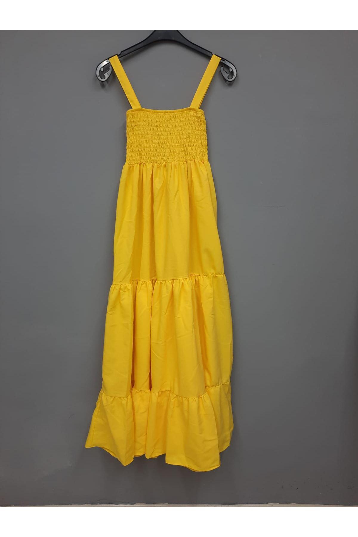 ZR Model Gipeli Elbise - SARI