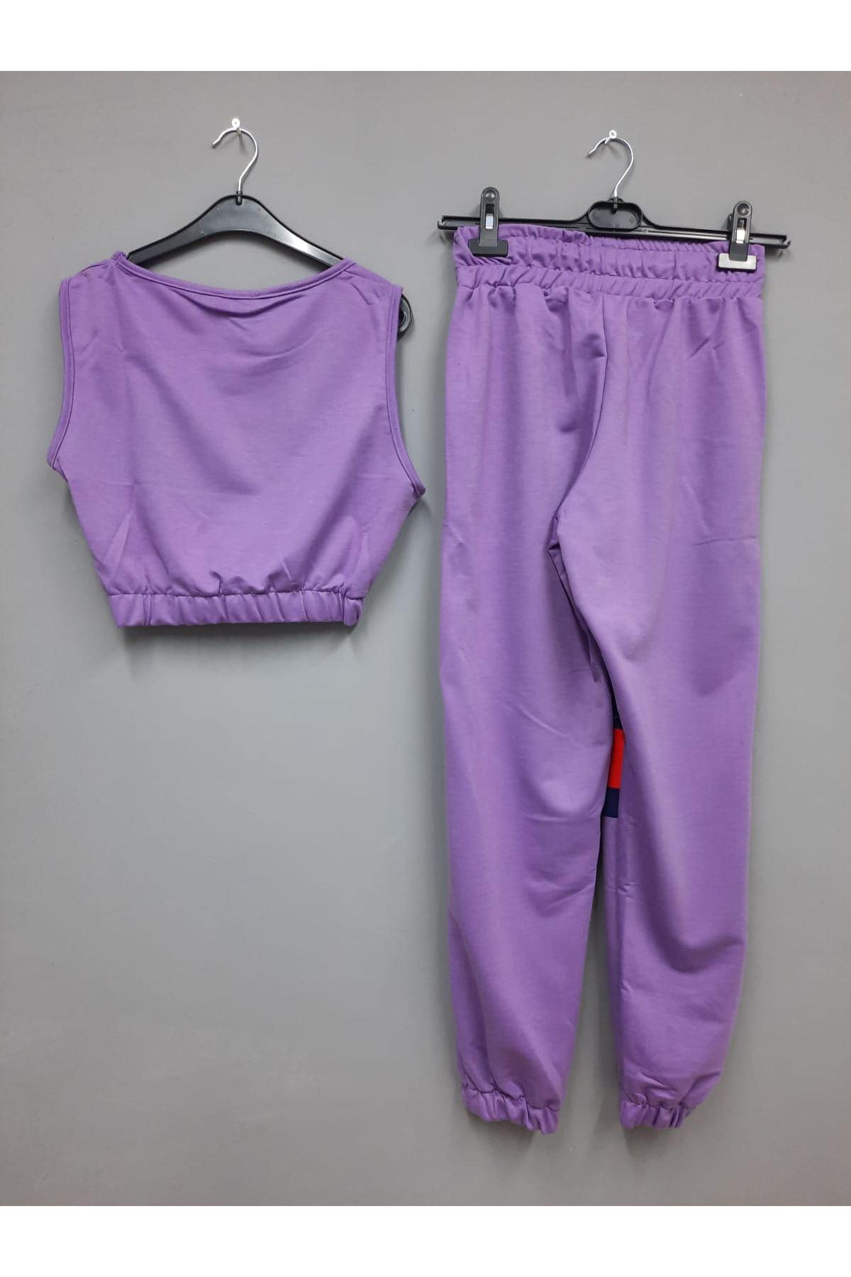 THR Model Crop Bluz İkili Takım - MOR