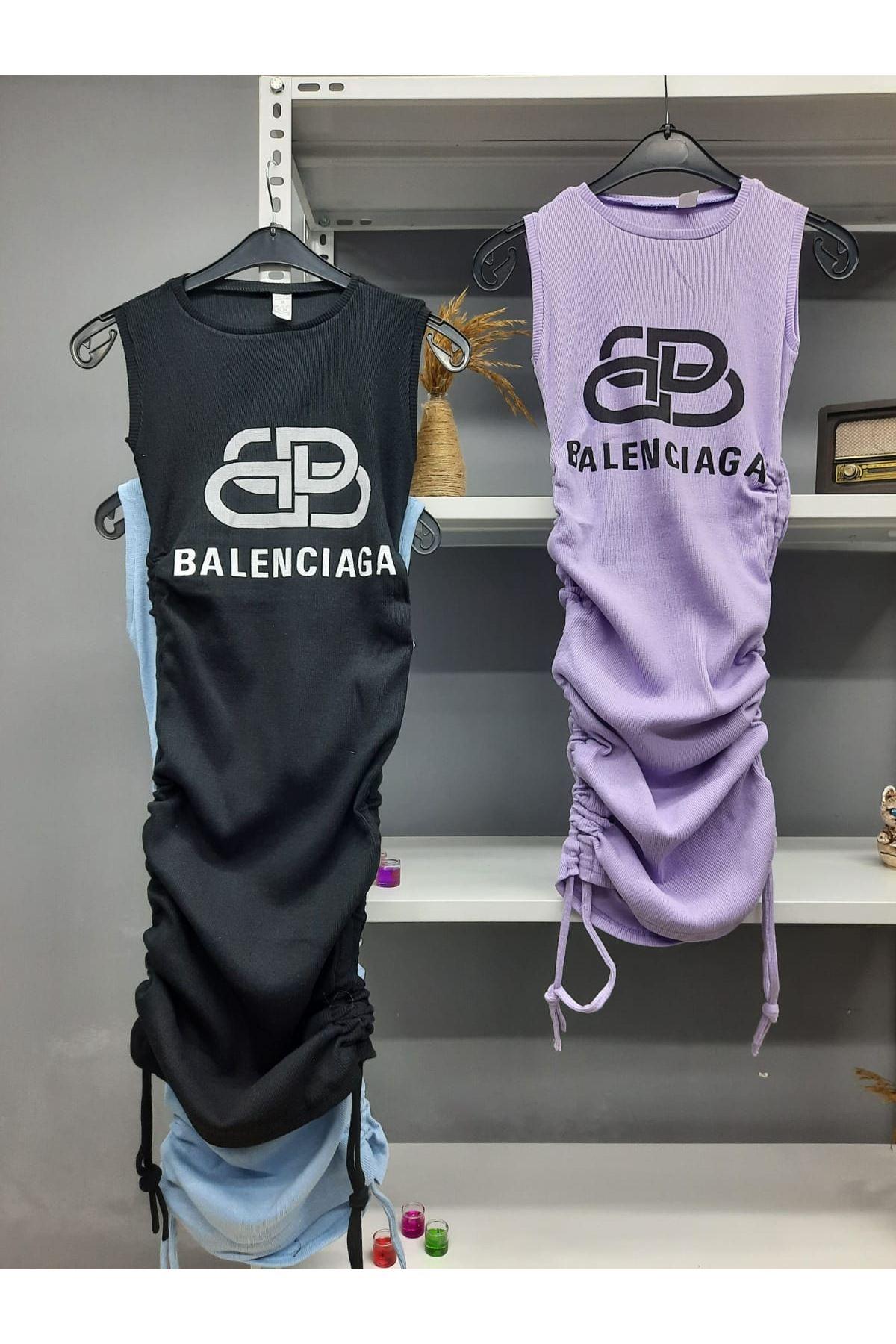 BB Model Büzgü Detaylı Elbise - MOR
