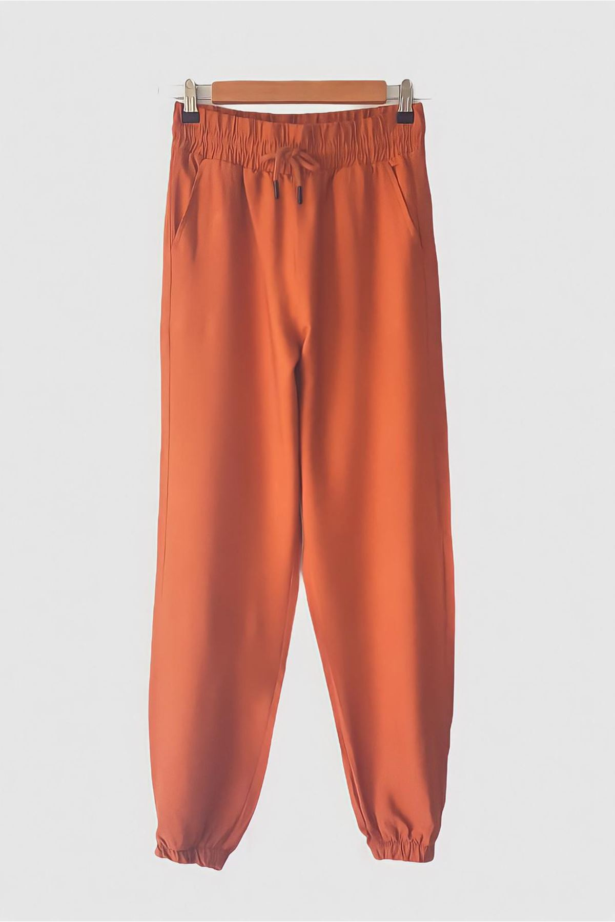 Ayrobin kumaş Jogger Pantolon - KİREMİT