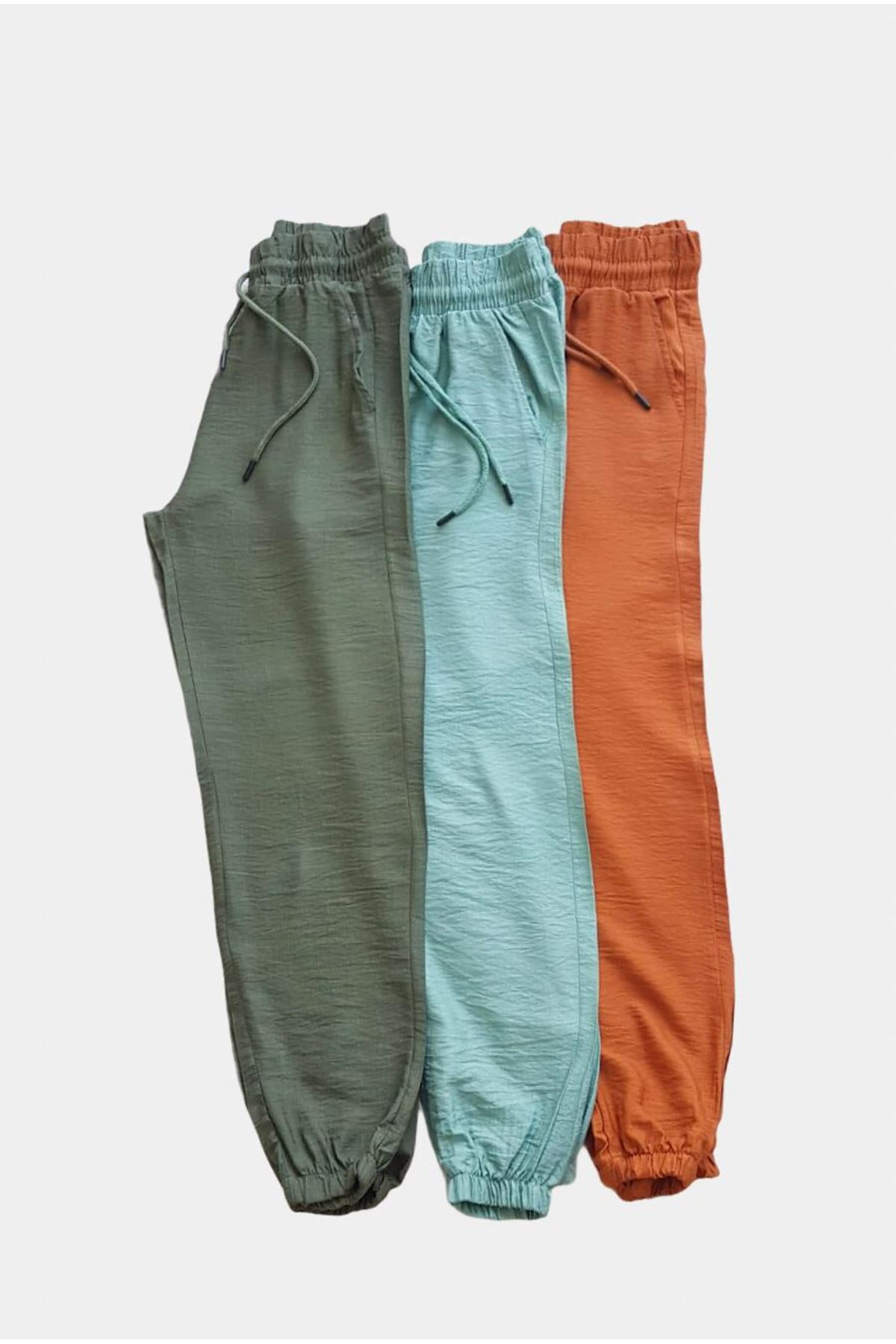 Ayrobin kumaş Jogger Pantolon - HAKİ