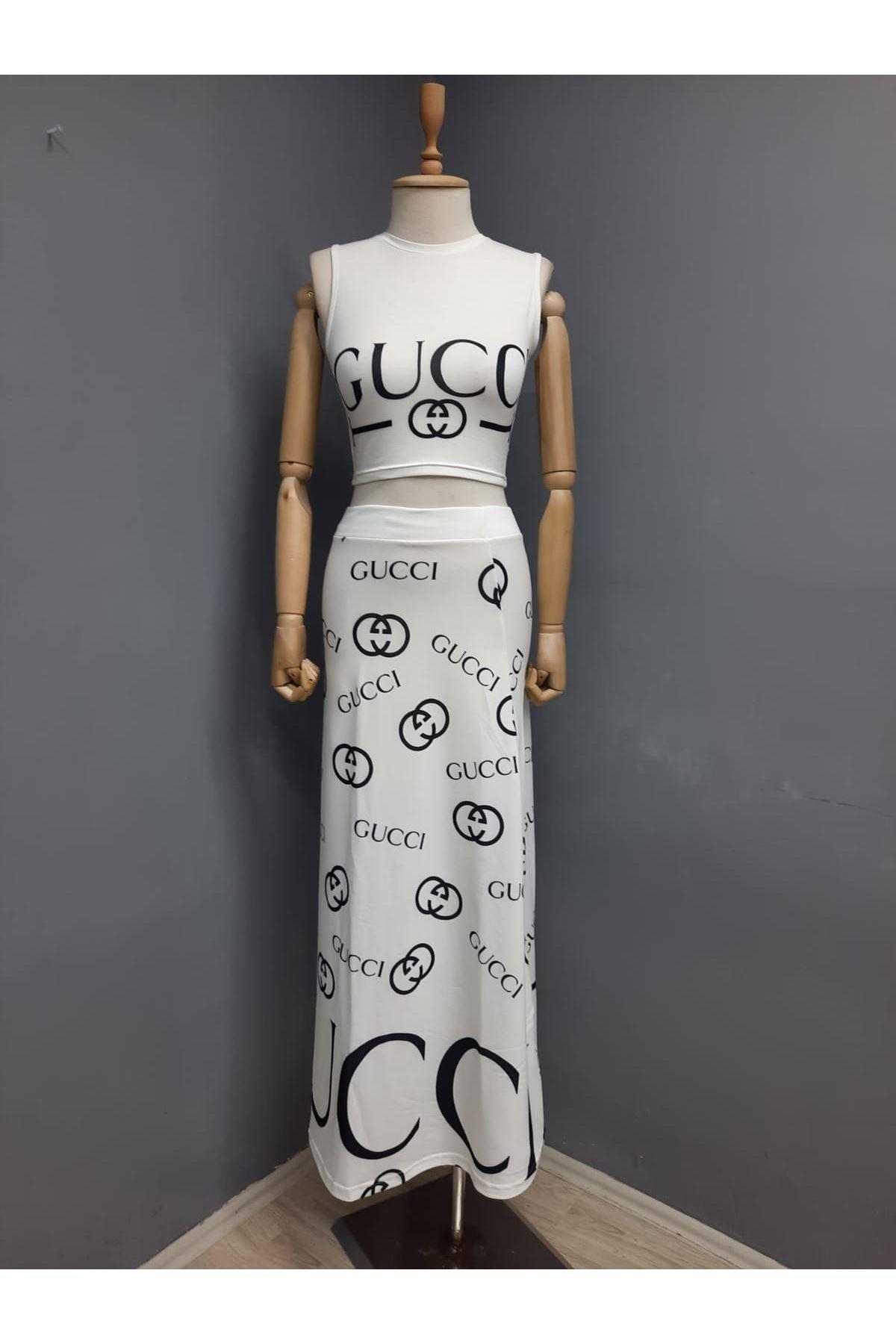 GUCC Model İki iplik Takım - BEYAZ