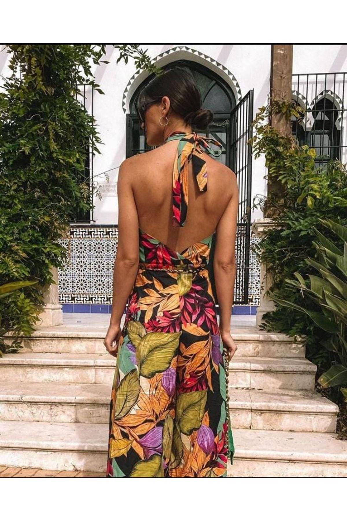 ZR Model Boyun Askılı Jessica Tulum - MULTİ