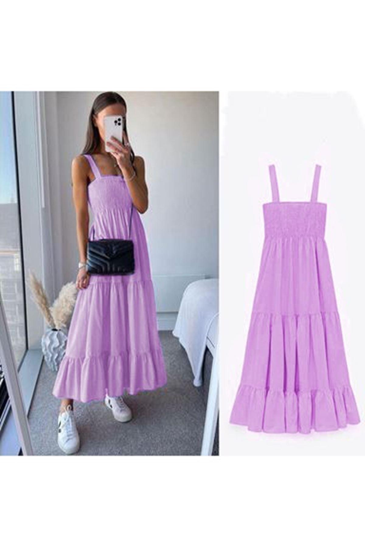 ZR Model Gipeli Elbise - lila