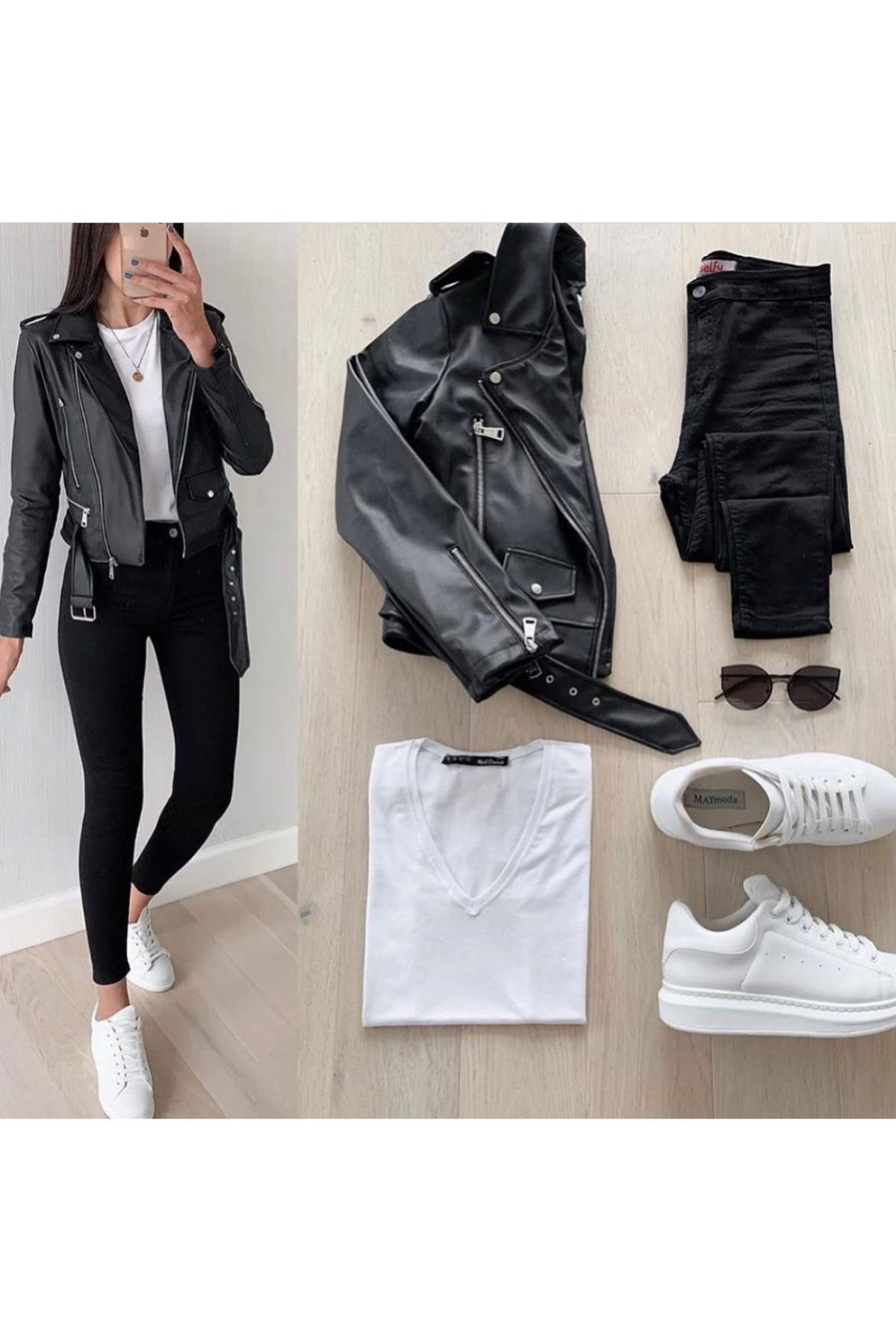 Zara Model Deri Ceket - SİYAH