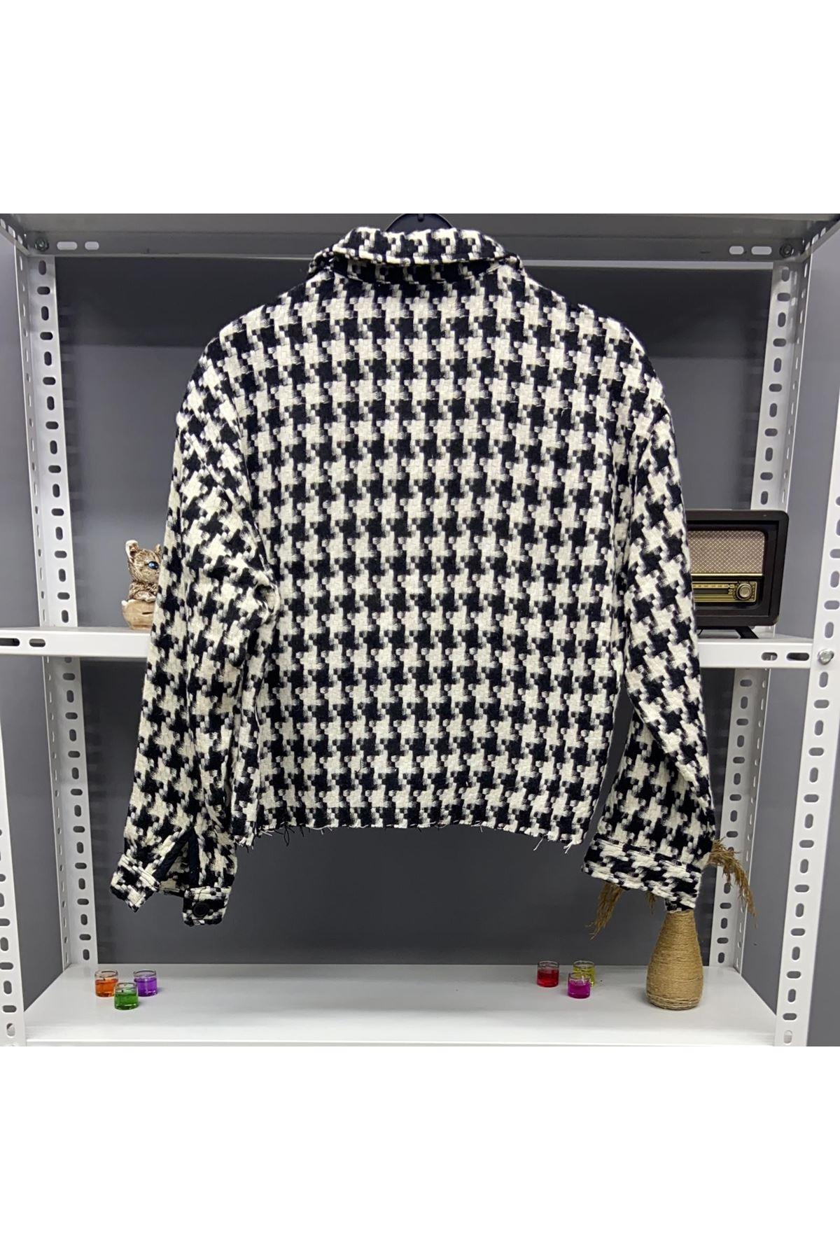 Zr Model Baharlık Kazayağı Ceket  - Multi