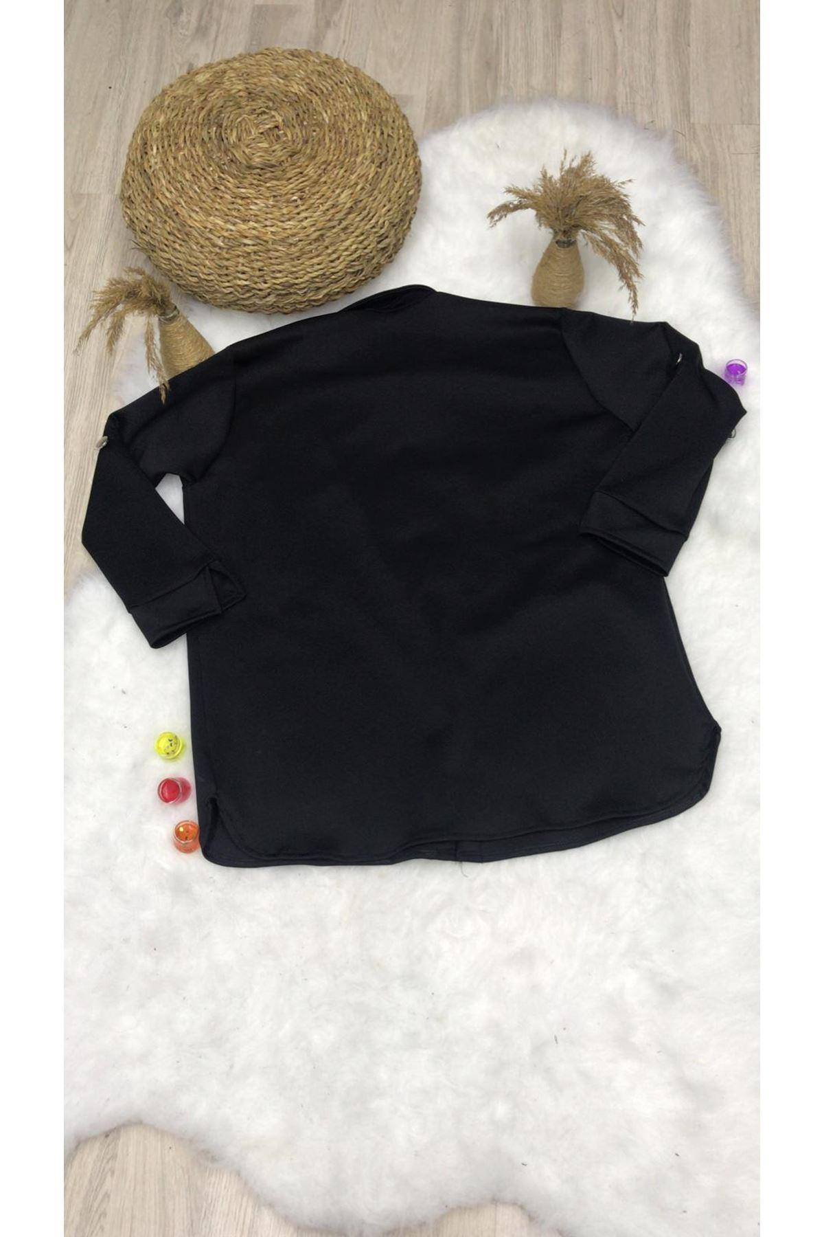 Scuba Dalgıç Kumaş Ceket - SİYAH
